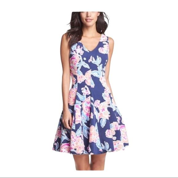 Lilly Pulitzer Size 8 Navy Clove Pom Pom Dress